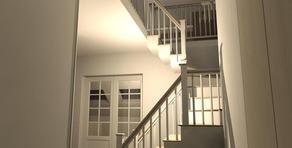 3D d'un escalier pour un projet à Forest