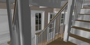 3D d'un escalier pour un projet à Lasne